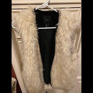 White/Cream fur vest